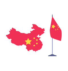 area and flag china state presentation vector image