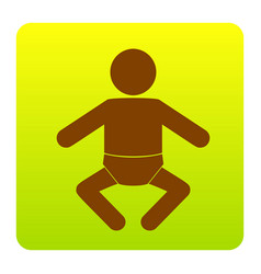 baby sign brown icon at vector image