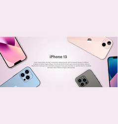 Banner for iphone 13 vector