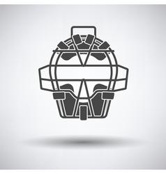 Baseball face protector icon vector image