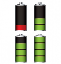 battery charge full and empty vector image
