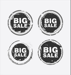 big sale stamp vector image