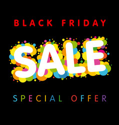 black friday sale special offer colorful vector image