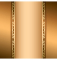 brown background with vertical ornament vector image