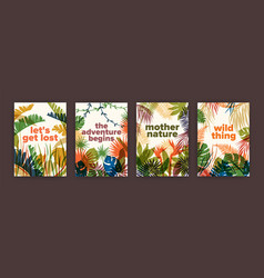 bundle of poster templates with colorful vector image