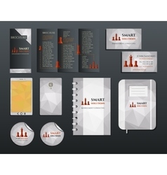 Business corporate branding identity set Brochure vector image