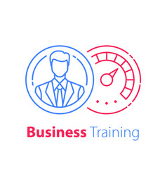 Business training administration management vector
