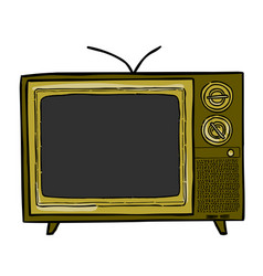 cartoon image of tv icon television symbol vector image