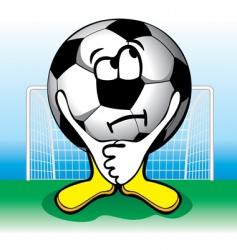 Cartoon soccer penalties vector