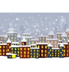 Cartoon winter city vector image