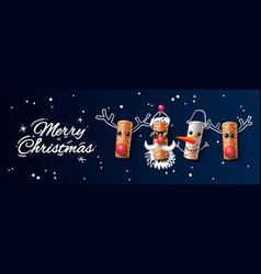 christmas web banner wine cork christmas vector image