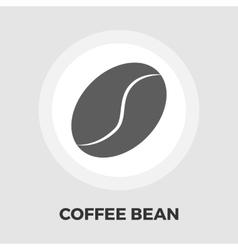 Coffee bean flat icon vector