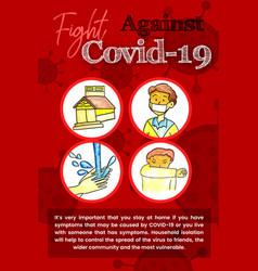 Corona virus global pandemic poster design vector