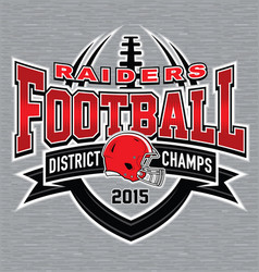 District champs football t-shirt graphic vector