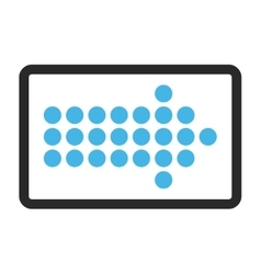 Dotted Arrow Right Framed Icon vector