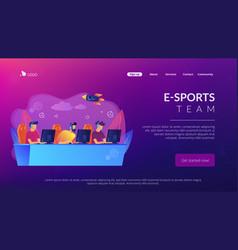 E-sport team concept landing page vector