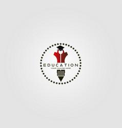 Education logo template logo for international vector