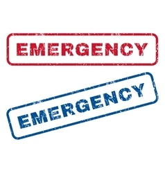Emergency Rubber Stamps vector