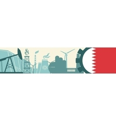 Energy and Power icons set Bahrain flag vector