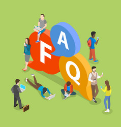 Faq flat isometric concept vector