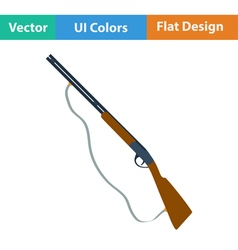 Flat design icon of hunting gun vector image