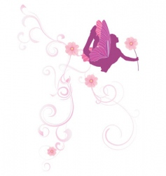 flowers fairy vector image