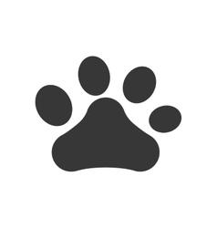 foot print love pet animal icon graphic vector image