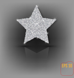 Glitter stylish silver star composition for vector