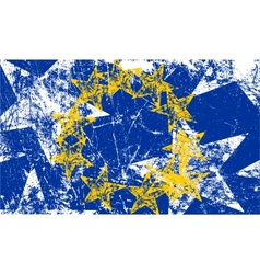Grunge European flag Artwork vector