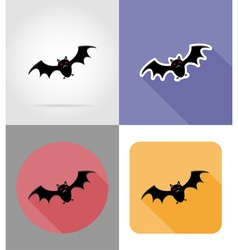 halloween flat icons 07 vector image