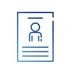 Human figure avatar in cv document gradient style vector