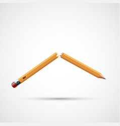 Icon broken pencil vector