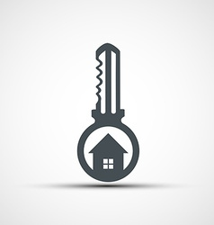 icons key with a house vector image