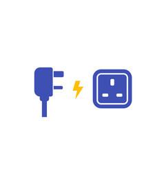 International ac power plug and socket vector