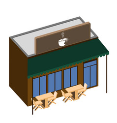isolated coffee shop vector image