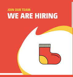 join our team busienss company socks we are vector image