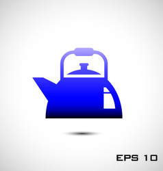 kettles icon or teapots icon vector image