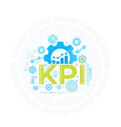 Kpi key performance indicator management vector