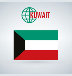 kuwait flag isolated on modern background with vector image
