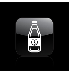 liquid bottle icon vector image