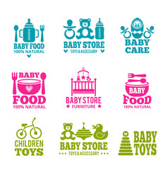 Logo for babies vector