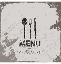 Menu vintage abstract grunge background vector