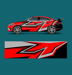 Modern stripe for racing car wrap sticker vector