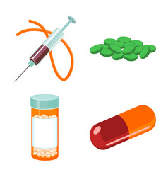 Narcotic and medical symbol vector