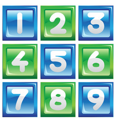 Numbers icon set vector
