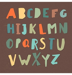Paper Cut Alphabet Colorful letters Easy edited vector image