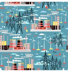 pattern of thermal and wind power vector image