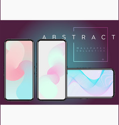 Phone x abstract fluid wallpapers pastel colors vector