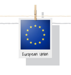 Photo of european union flag vector