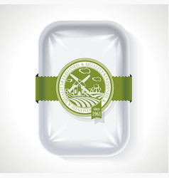 Premium quality pack plastic tray container with vector